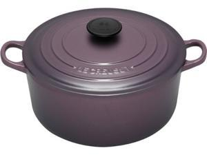 Le Creuset Signature Enameled Cast-Iron 5-1/2-Quart Round French Oven, Cassis