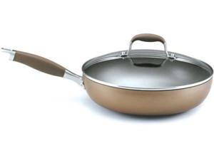 Anolon 12-in. Nonstick Advanced Bronze Collection Covered Deep Skillet
