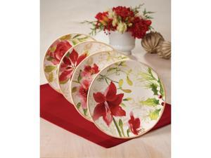 Paula Deen 4-pc. Holiday Floral Salad Plate Set