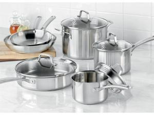 Calphalon 10-pc. Stainless Steel Classic Stainless Steel Cookware Set