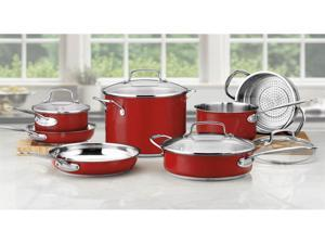 Cuisinart 11-pc. Stainless Steel Chef's Classic Cookware Set, Red