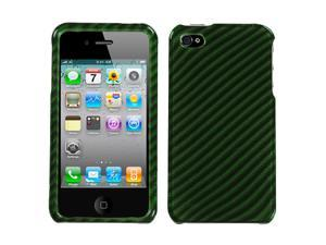 Racing Fiber/Dr Green 2D Hard Cover Snap on Protector Case iPhone 4 4S
