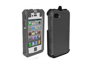 Gray/White Ballistic HC Series Protection Rugged Case Holster iPhone 4 4S