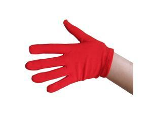 Child Costume Red Polyester Gloves 5033