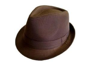 Classic Brown Fedora Hat