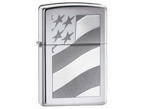 Zippo Old Glory High Polish Chrome Lighter - 21068 -