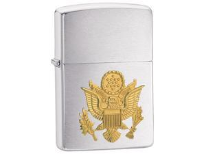 Zippo Brushed Chrome Army Lighter -