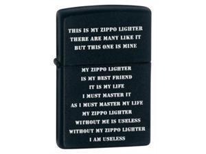 Zippo Creed Black Matte Pocket Lighter -