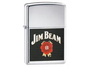 Zippo Jim Beam With Chrome Pocket Lighter -
