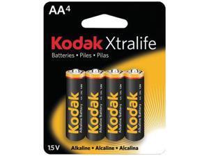Kodak Xtralife Xlaa4 Alkaline Batteries (Aa , 4 Pk) -