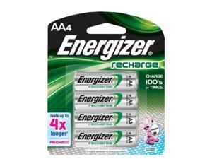 Energizer New Recharge Batteries , Aa , 4-Count -