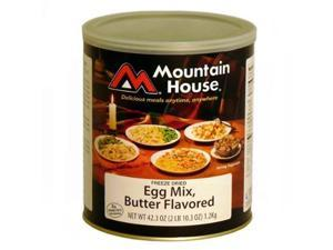 Mountain House 30431 Uncooked Egg Mix, Butter Flavor. #10 Can -
