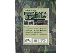 Camouflage P.E. Tarp (10' X 10') -