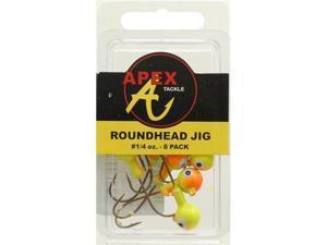 Jig Heads 1/4 Oz 8Pk Cht/Org - Jig Heads 1/4 Oz 8Pk Cht/Org