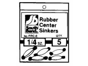 South Bend Rubber Center Sinker (3/8 Oz.) - Rubbercenter 3/8 Oz