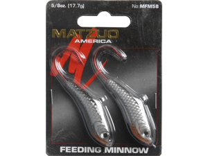 Matzuo Feeding Minnow Jigs Size: 5/8 oz. (FM58)&#59; Color: Black/Silver (BS)