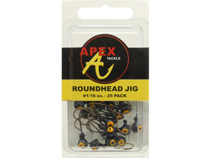 JIG HEADS 1/16OZ 25PK BLACK