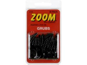 Zoom Unrigged Grubs 2 inch Black