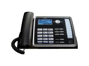 RCA Products RCA25214 Corded Phone- 2-Line Speakerphone- Call-Wait Call-ID- BKSR