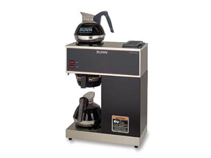 BUNN VPR 12-Cup Pourover Commercial Coffee Brewer with Upper and Lower Warmers, Black