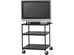 "Bretford FP42UL-P5BK 26"" - 42"" Black Flat Panel Cart for Monitors"