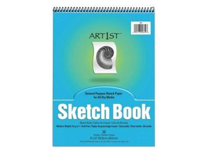 "Pacon 4850 Art1st Sketch Book 30 Sheet - 94 g/m² Grammage - 9"" x 12"" - 30 / Pad - White Paper"