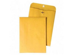Quality Park Products QUA37894 Gummed Clasp Envelope- 28Lb- 9-.25in.x14-.50in.- Kraft
