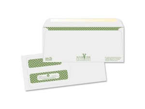 "Quality Park Sugarcane Paper Double Window Envelopes #9 (3.88"" x 8.88"") - Gummed - 500/Box - White"