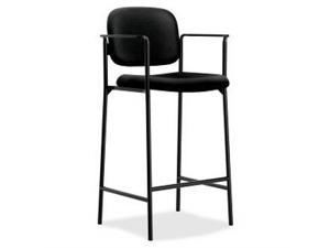 VL636 Series Café-Height Stool 100% Polyester Black Back/Seat 2/Carton