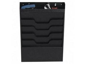 Buddy Products BDY8414 File Organizer- 4 Pockets- Top Section for Supplies- Black
