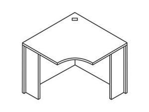 "Lorell 69381 Essentials Peninsula Post Box 2/2 28.5"" Height x 3.5"" Diameter - Black"