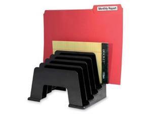Kantek KTKS1430 Organizer Sorter- Five Compartments- 8in.x5-.75in.x6in.- Black