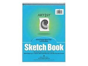 "Pacon 4850 Art1st Sketch Book 30 Sheet - 94 g/m² Grammage - 9"" x 12"" - 30 / Pad - White Paper"