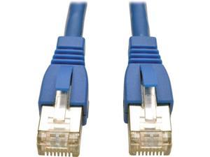 TRIPP LITE N262-005-BL 5 ft. Cat 6A Blue Shielded Augmented Cat6 (Cat6a) Shielded (STP) Snagless 10G Certified Patch Cable, (RJ45 M/M)