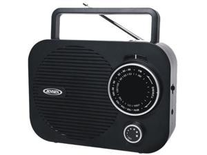 JENSEN Portable AM/FM Radio w/ Aux jack (black) MR-550-BK
