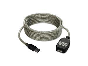 Tripp Lite U026-016 16 ft. Silver USB 2.0 Extension Cable, A/A Gold