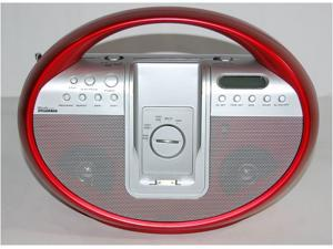Sylvania Portable iPod CD Player, Red - SIP1007RED