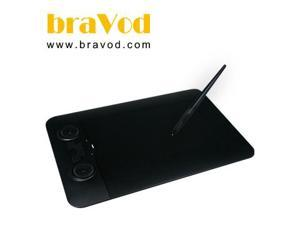 "Bravod AURO AGT-208A Professioanl Graphics 8""x 5"" Tablet w/ battery-free pen"