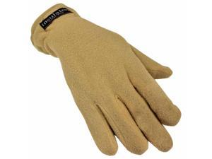 Tan Beige Polar Fleece Women's Thermal Insulated Gloves