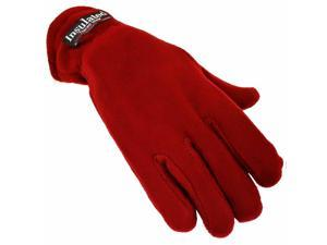 Burgundy Polar Fleece Women's Thermal Insulated Gloves
