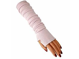 Tight Fit Cloud Pink Long Arm Warmers W/Thumb Hole