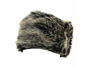 Black & Gray Luxurious Plush Faux Fur Winter Hat