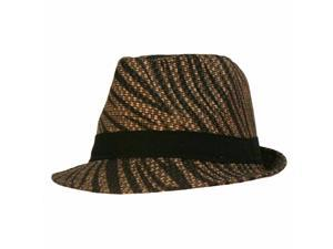Black Animal Printed Lightweight Fedora With Band