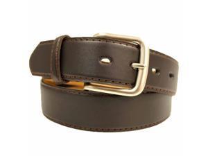Brown Leather Men's Zipper Money Belt