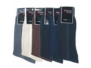Men's Assorted 6 Pack Polyester Dress Socks