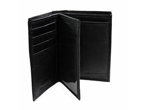 Slim Bi-Fold Men's Black Wallet W/Coin Holder