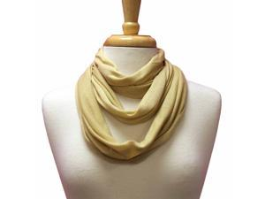 Beige Ultra Lightweight Circle Ring Infinity Scarf
