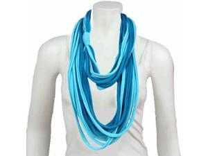 Light Blue & Turquoise String Circle Light Scarf