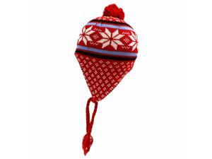 Multi Color Snowflake Knit Tassel Trooper Hat