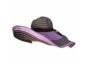 "Dashing Two Tone Purple 7"" Wide Brim Crushable Floppy Hat"